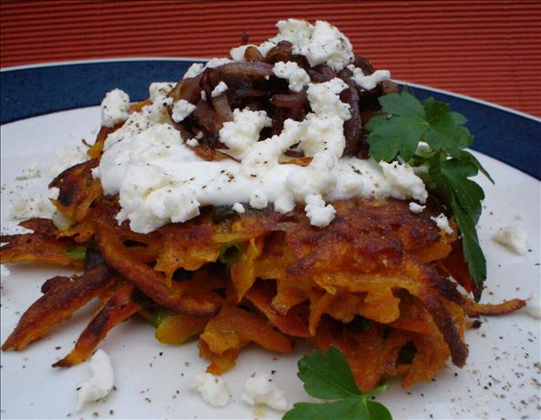 Vegetable Fritters With Caramelised Onions