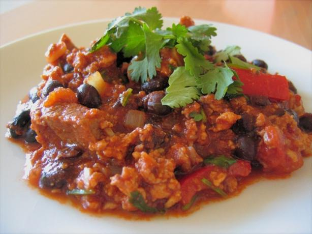 Turkey, Beef and Black Bean Chili