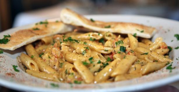 Cajun Crawfish Alfredo With Penne Pasta