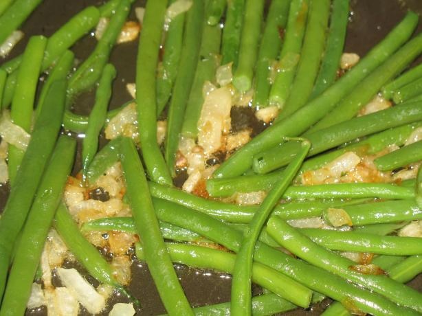 Shallot Sauteed Green Beans
