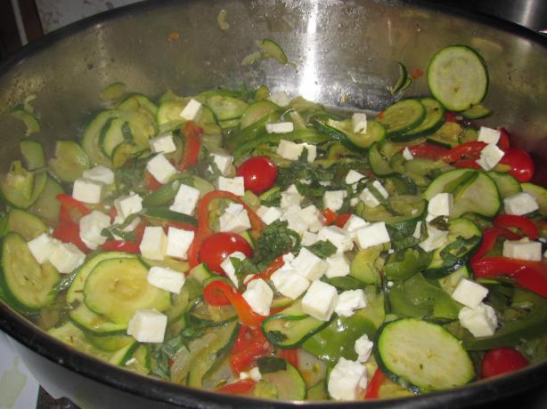 Zucchini, Peppers, and Tomatoes