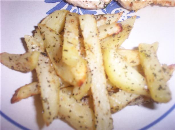 Oven Fried Oregano Potatoes