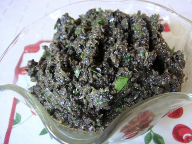 Anchovy Free Black Olive Tapenade