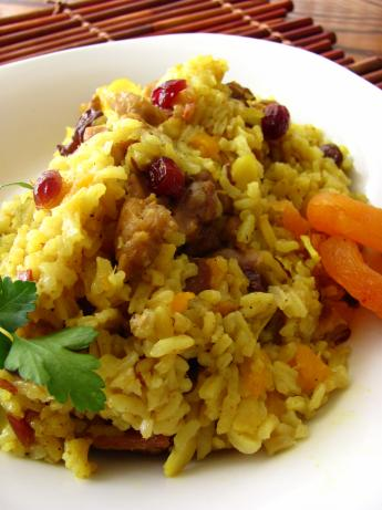 Savory Curried Rice With Dried Fruit