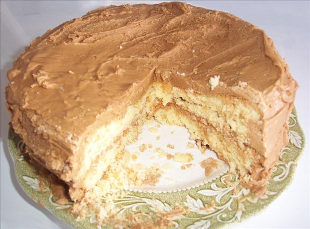 Layer Cake With Caramel Frosting