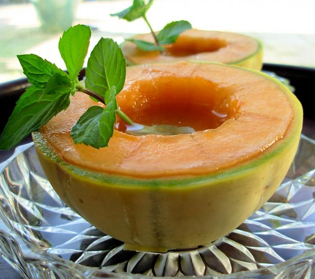 Minty Fresh French Aperitif and Appetiser Charentais Melon Bowls
