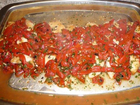 Chicken Breasts With Roasted Red Peppers