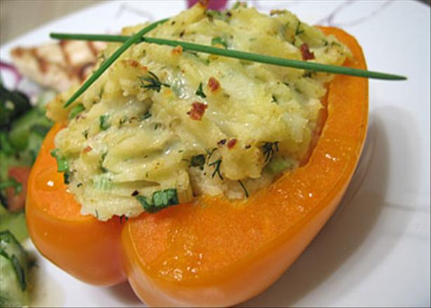 Potato-Stuffed Red Bell Peppers