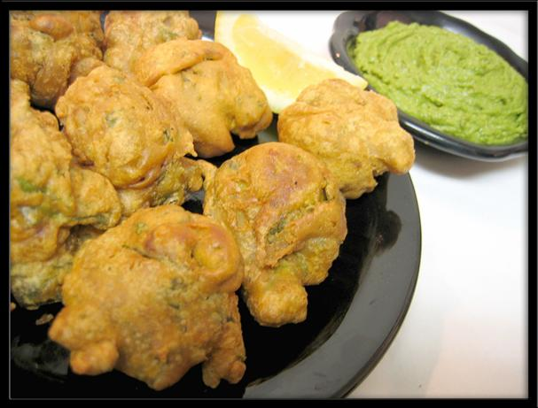 Spinach Pakora (fritters)