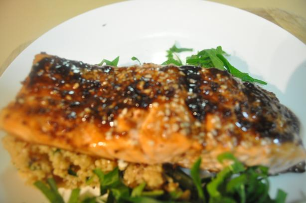 Oven Roasted Salmon With Balsamic Sauce