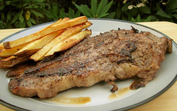 Pan Seared T-Bone Steak