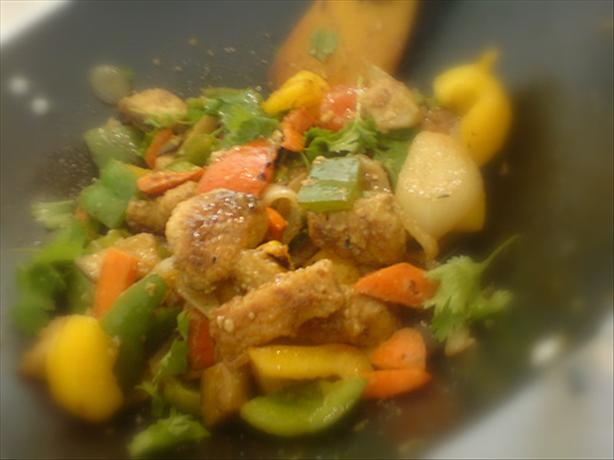 Tempura Fish Stir-Fry With Assorted Peppers