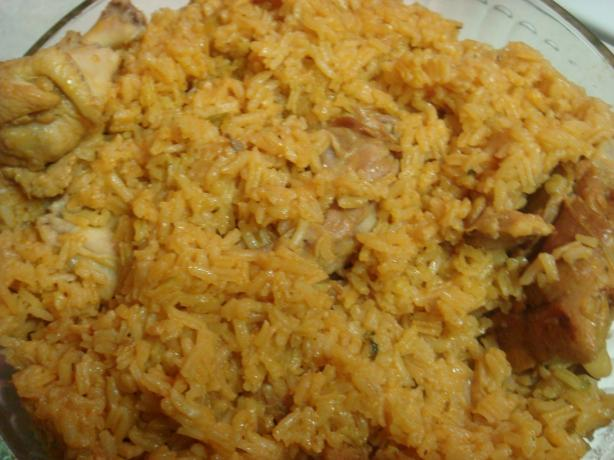 Dominican Locrio De Pollo ( Rice and Chicken)