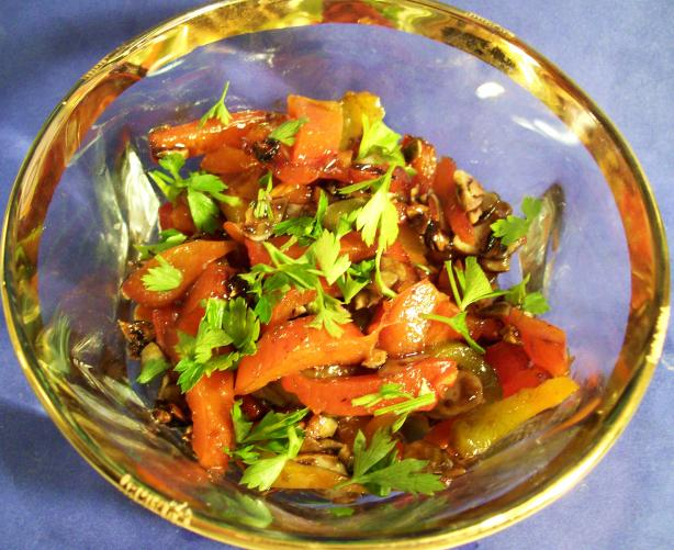 Roasted Bell Peppers With Honey and Almonds