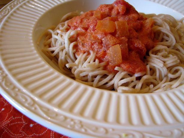 Whole Wheat Pasta and Light Vodka Sauce