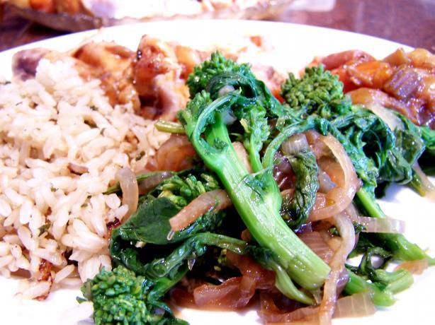 Steamed Broccoli Rabe With Garlic