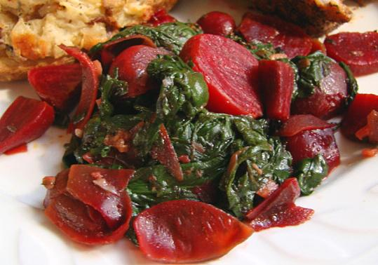 Lemon & Butter Braised Beet Greens