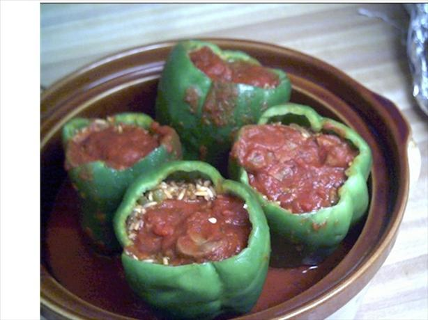 Crock Pot Stuffed Green Bell Peppers