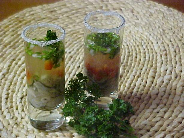 Tequila-Oyster Shooters