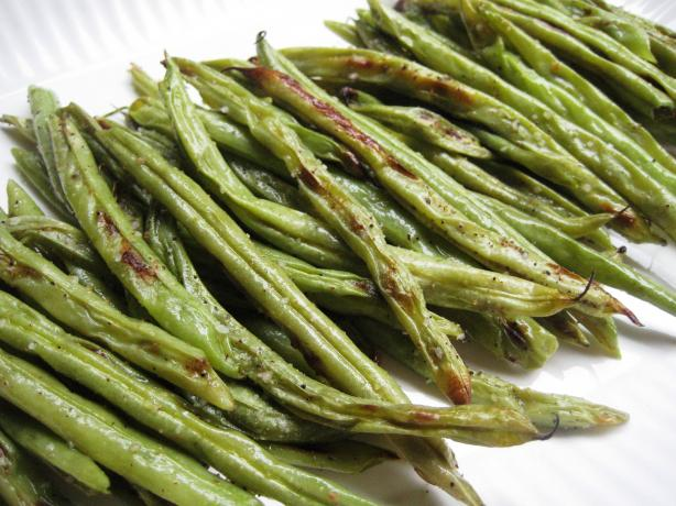 Roasted Garlic-Pepper Green Beans
