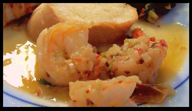 Shrimp or Scallops in Garlic Butter
