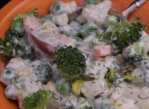 Garden Vegetable Pistachio Potato Salad