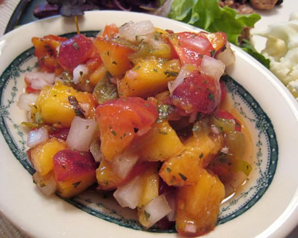 Ww Fresh Peach Salsa