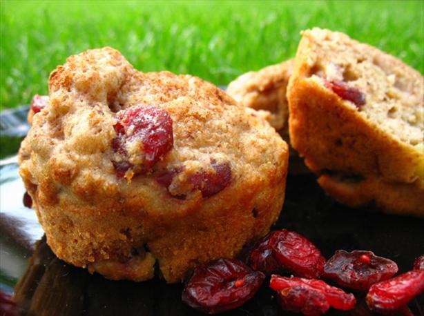 Apple-Cranberry Wheat Muffins