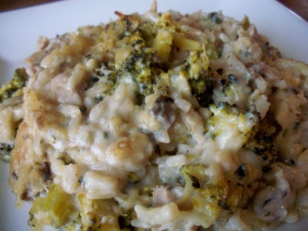 Wild Rice Broccoli Chicken Casserole