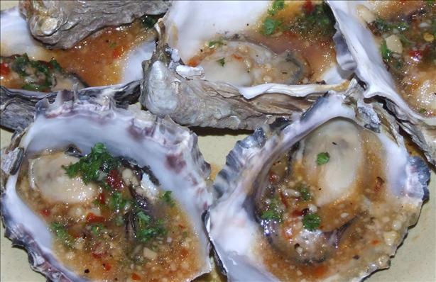 Grilled Barbecued Oysters