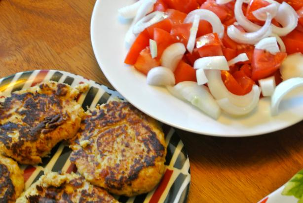 Tuna, Corn & Dill Patties. ( Healthy Version)