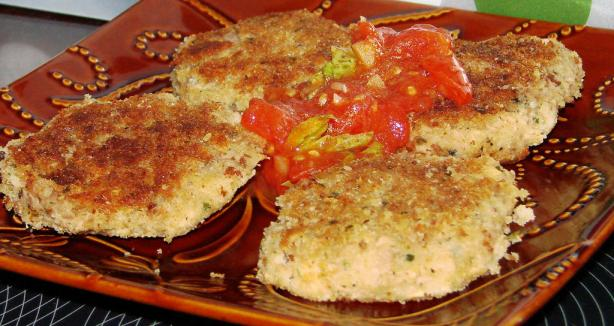 Tuna Patties With Marinara Sauce