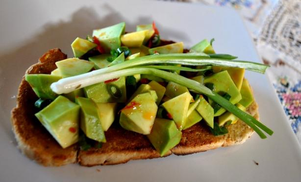 Bruschetta With Avocado and Chilli Pepper Topping