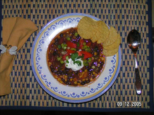 Pork, Black Bean & Corn Chili