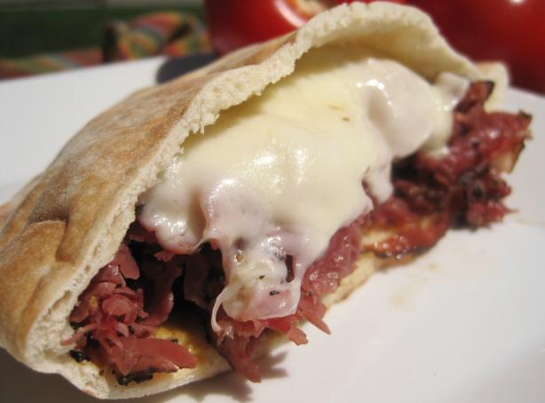 Simple Hot Pastrami and Swiss Sandwiches