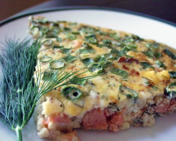 Crustless Smoked Salmon Quiche With Dill