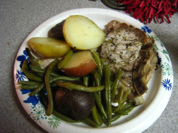Rosemary Pork With Potatoes and Green Beans