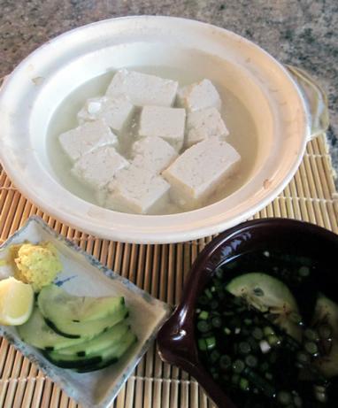 Yu-Dofu (Kyoto Style Plain Simmered Bean Curd)