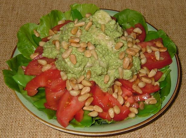 Parsley Pesto Chicken Salad With Pine Nuts