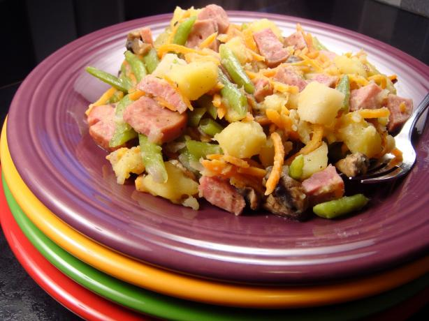 Potato and Turkey Kielbasa Skillet Dinner #5FIX