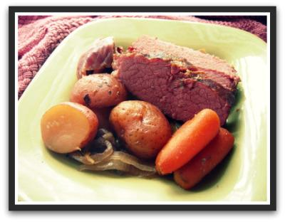 Crock Pot Apple and Brown Sugar Corned Beef