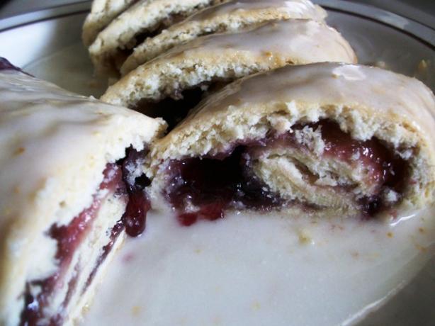 Baked Jam Rolls