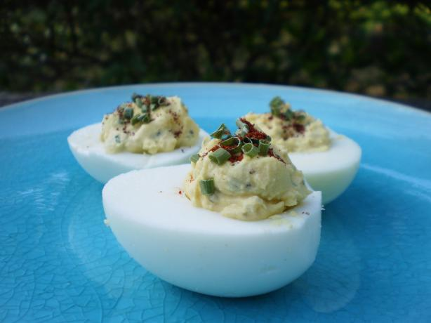 A Little Bit Spicy Deviled Eggs!