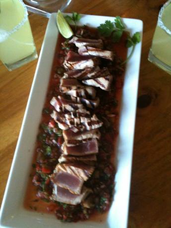 Seared Ahi Tuna Sea Steak over Mexi-Asian Salsa