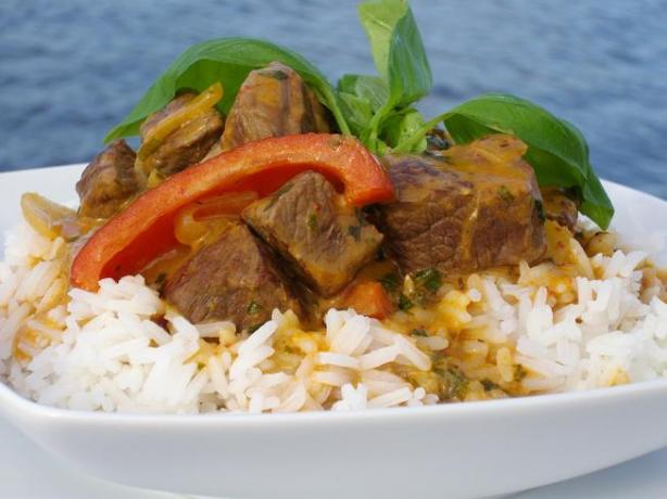 Thai Red Curried Lamb