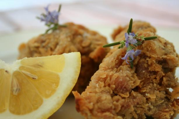 Rosemary-Scented, Extra-Crispy Fried Chicken