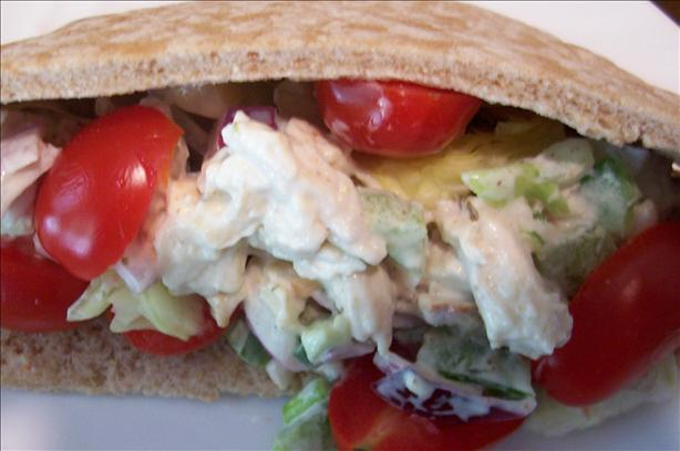 Chicken and Salad Pitas