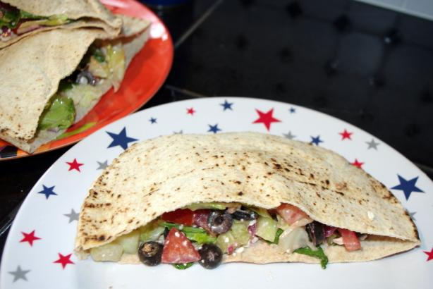 Greek Salad Pita Pockets for Two