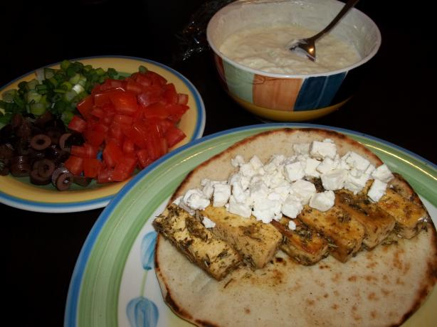 Greek Tofu Pitas