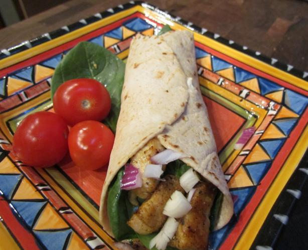 WW Cajun Chicken Spinach Wraps 5 Points